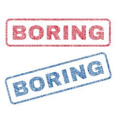 Boring textile stamps vector