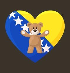 Bosnian and herzegovinian teddy bears vector
