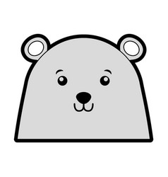 Christmas bear face cartoon vector