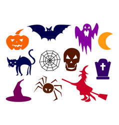 collection of halloween silhouettes - more vector image vector image
