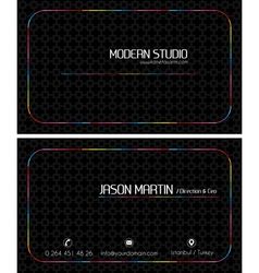 Colorful black creative business card vector