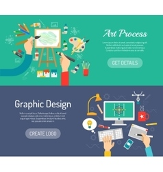 Creative process banners vector