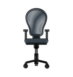Drawing armchair office equipment seat vector