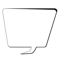 empty comic speech bubble vector image