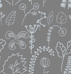 Fantastic plants seamless pattern vector image