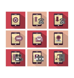 Flat icon design phone vector