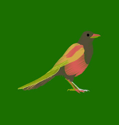 Flat shading style icon magpie vector