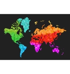Geometric World Map in Colors vector image