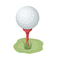 golf ball on the standgolf club single icon in vector image
