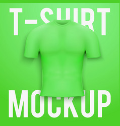 Green t-shirt on background product mockup vector