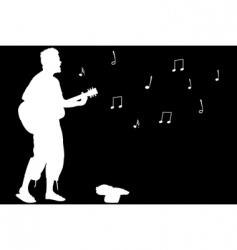 Guitar guy singing vector