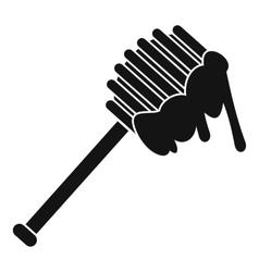 Honey spoon icon simple style vector