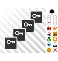 Key blockchain icon with bonus vector