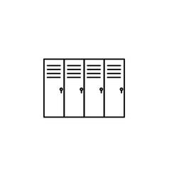 lockers icon vector image
