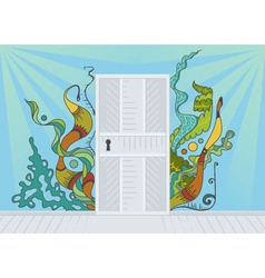 Open door of inspiration vector image