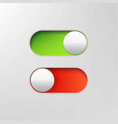 phone switch icon on off toggle for design vector image
