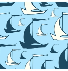 Seamless nautical pattern with decorative sailing vector image vector image