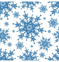 Seamless pattern texture with blue snowflakes vector