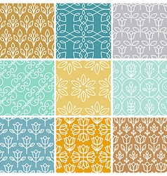 set of linear simple patterns vector image vector image