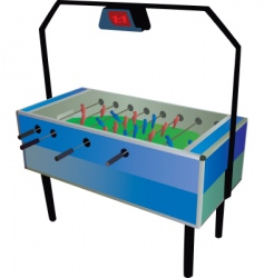 Table soccer vector