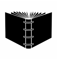 The end of open spiral book black simple icon vector