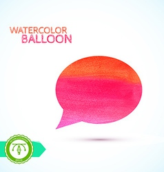 Watercolor balloon vector