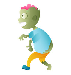 zombie cute cartoon character vector image