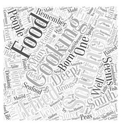 Southern cooking brings soul to food word cloud vector