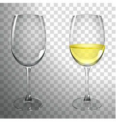 glass of white wine vector image