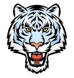 white tiger head logo vector image