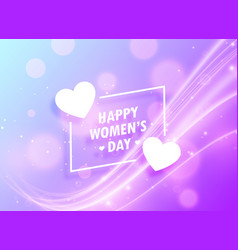 Happy womans day greeting design background for vector
