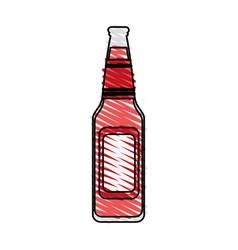 Color crayon stripe image bottle glass of refresh vector