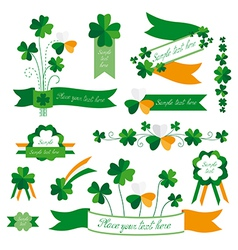 Set of st patricks day decorative elements vector