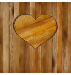 Heart in wood shape for your design  EPS8 vector image