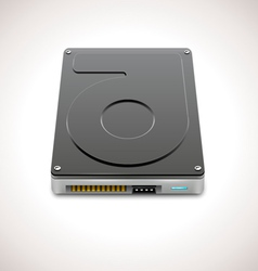 Blackdata storage hard disc drive icon vector