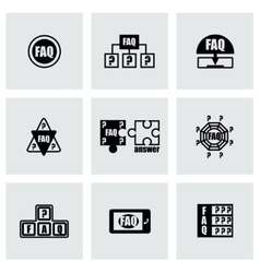Faq icon set vector