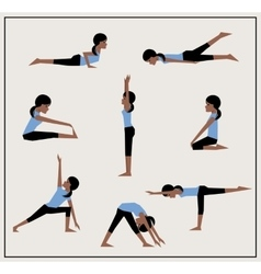 Set of asanas vector