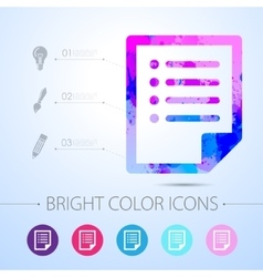 Document icon with infographic elements vector