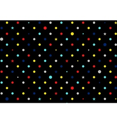 Retro colorful dots black background vector