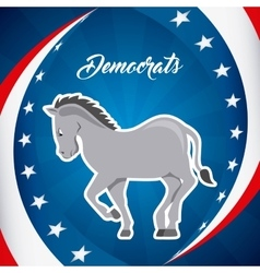 Democrat party design vector