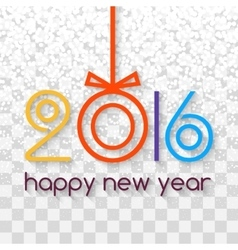 Happy new year 2016 creative colorful snowing vector
