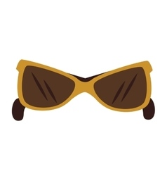 Sunglasses fashion accesorie icon vector