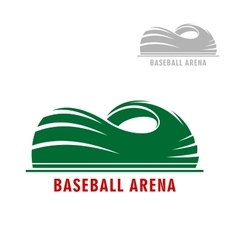 Baseball or softball stadium symbol vector image