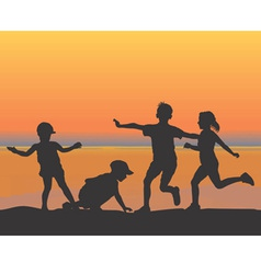 Beach children vector