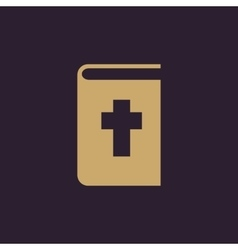 Bible icon design Religion Bible symbol vector image