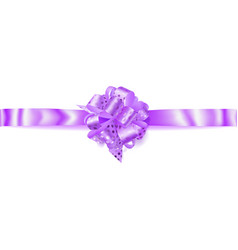 Big horizontal bow made of ribbon in polka dots vector