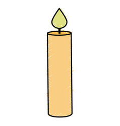 Candle birthday isolated icon vector