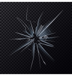Crushed mirror or broken surface of glass vector image