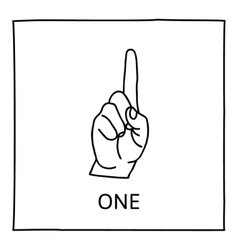 Doodle counting fingers icon vector