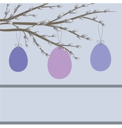 Easter card with hand drawn eggs vector image vector image